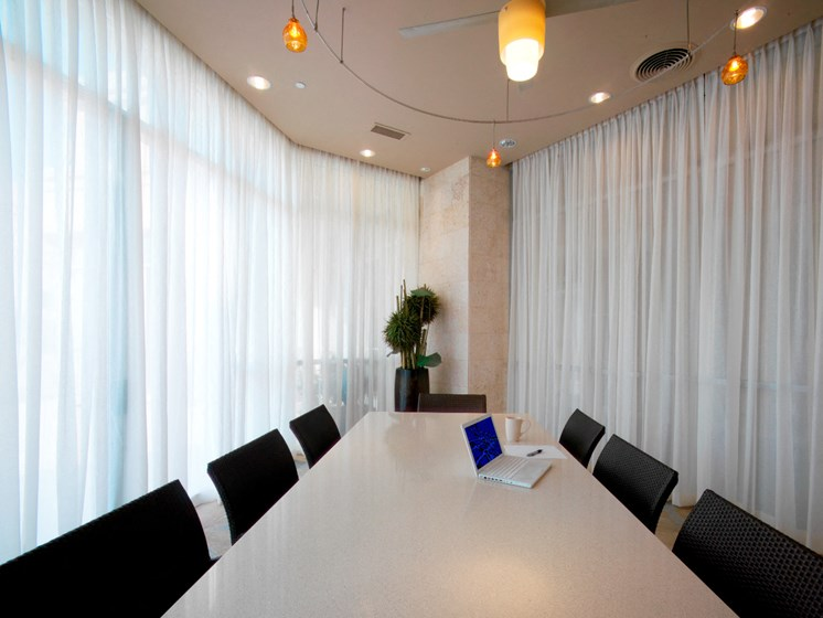 Conference Room Table at The Residence at South Park Apartments in Charlotte, North Carolina