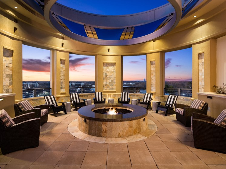 Fire Pit Lounge at The Residence at South Park in Charlotte, North Carolina