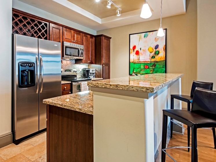 Fully-Equipped Kitchen at The Residence at South Park Apartments in Charlotte, North Carolina