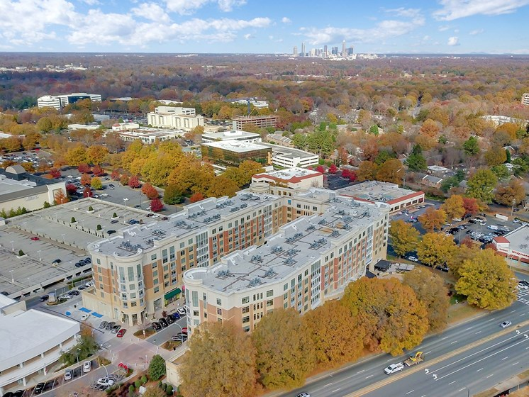 Aerial View of Property at The Residence at South Park Apartments in Charlotte, North Carolina
