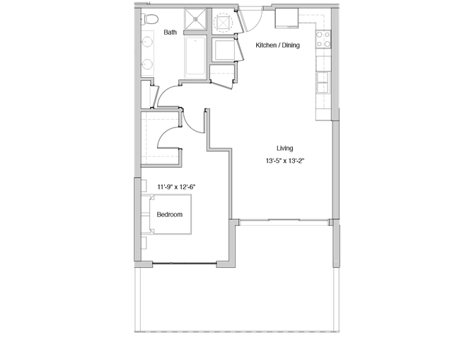 A7 Floor Plan at Grey House Apartments in Houston, Texas