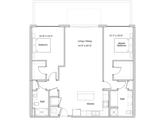 B18 Floor Plan at Grey House Apartments in Houston, Texas