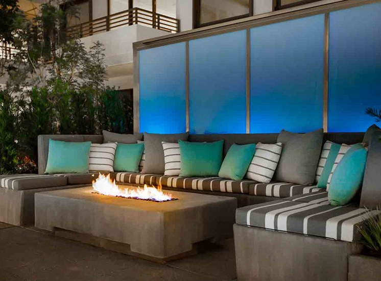 Cozy Fire Pit at Grey House Apartments in Houston, Texas