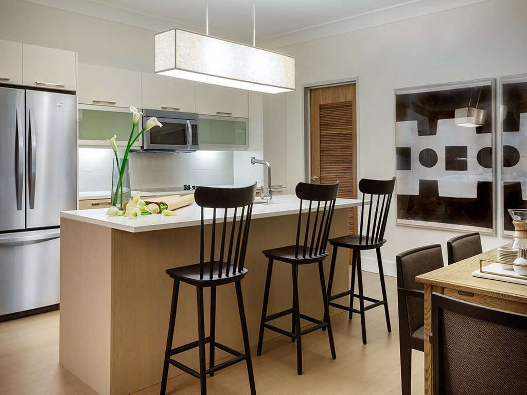 Gourmet Kitchen at Grey House Apartments in Houston, Texas