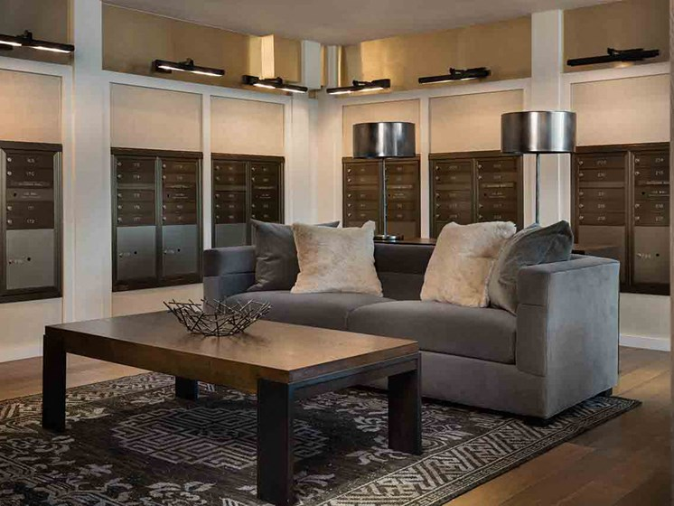 Lobby Seating Area at Grey House Apartments in Houston, Texas