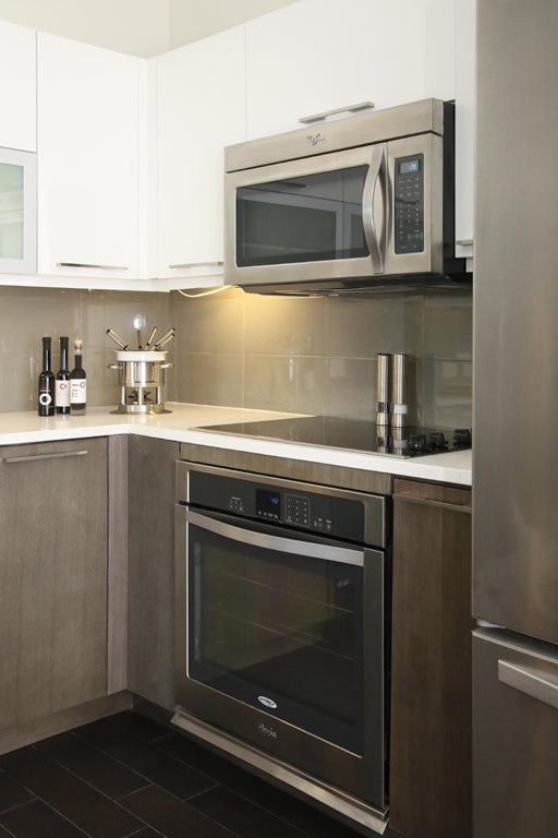 Stove Top Range at Grey House Apartments in Houston, Texas
