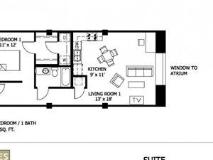 1 Bedroom (Affordable 50%)