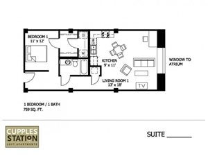 1 Bedroom (Affordable 60%)