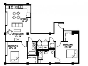 2 Bedroom (Affordable 60%)