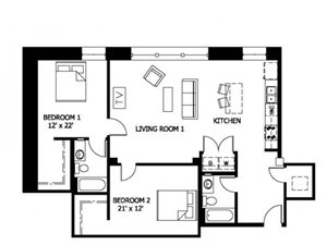 2 Bedroom (Market)