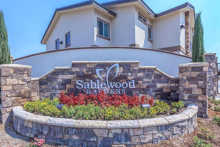 Entrance Sign at Sablewood Gardens, Bakersfield, 93314
