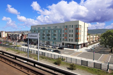 Building Rendering l Coliseum Connection Apartments in Oakland, CA