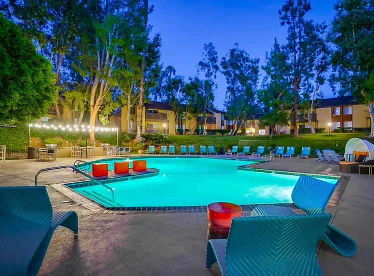 Twilight Pool at The Trails at San Dimas, 444 N. Amelia Avenue