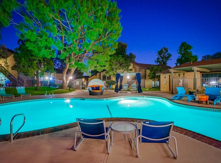 Lounging by the Pool at The Trails at San Dimas, 444 N. Amelia Avenue, CA