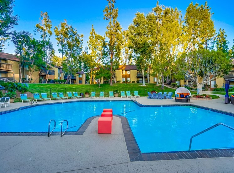 Turquoise Swimming Pool at The Trails at San Dimas, CA, 91773