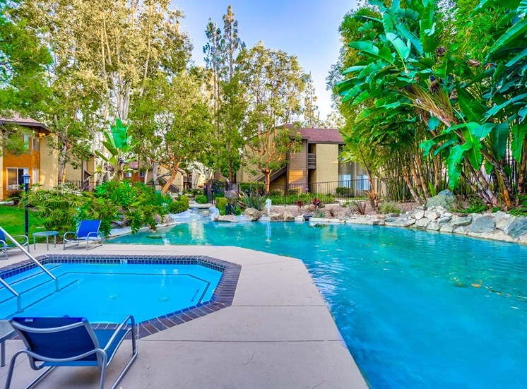 Cool Blue Swimming Pool And Spa at The Trails at San Dimas, 444 N. Amelia Avenue, CA