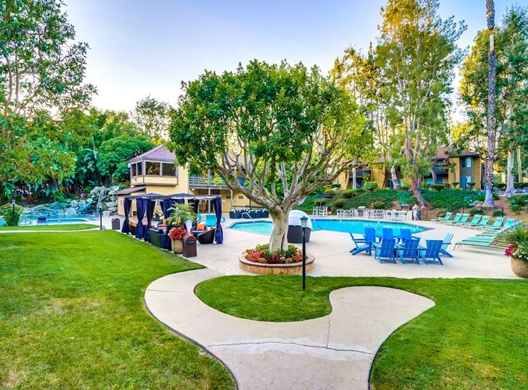Picturesque Pool And Cabana Setting at The Trails at San Dimas, 444 N. Amelia Avenue