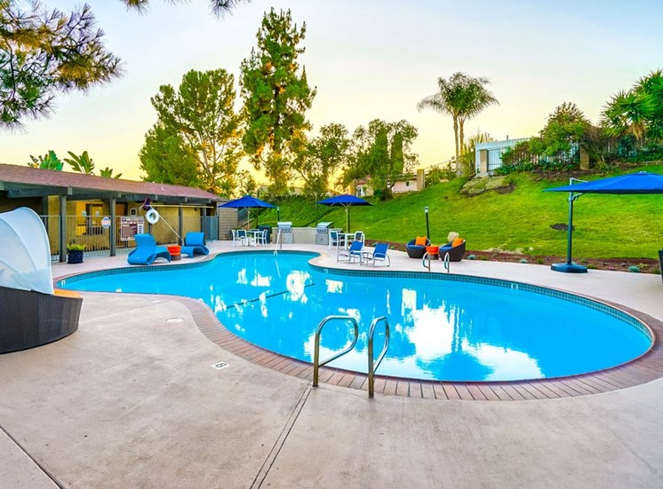 Crystal Clear Swimming Pool at The Trails at San Dimas, 444 N. Amelia Avenue, CA