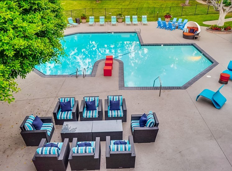 Resort Style Swimming Pool at The Trails at San Dimas, 444 N. Amelia Avenue