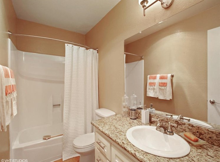 Bathroom Vanity With Large Mirror at The Trails at San Dimas, 444 N. Amelia Avenue, CA
