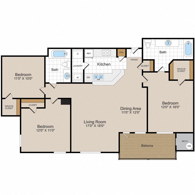 Chesapeake Floor Plan 4
