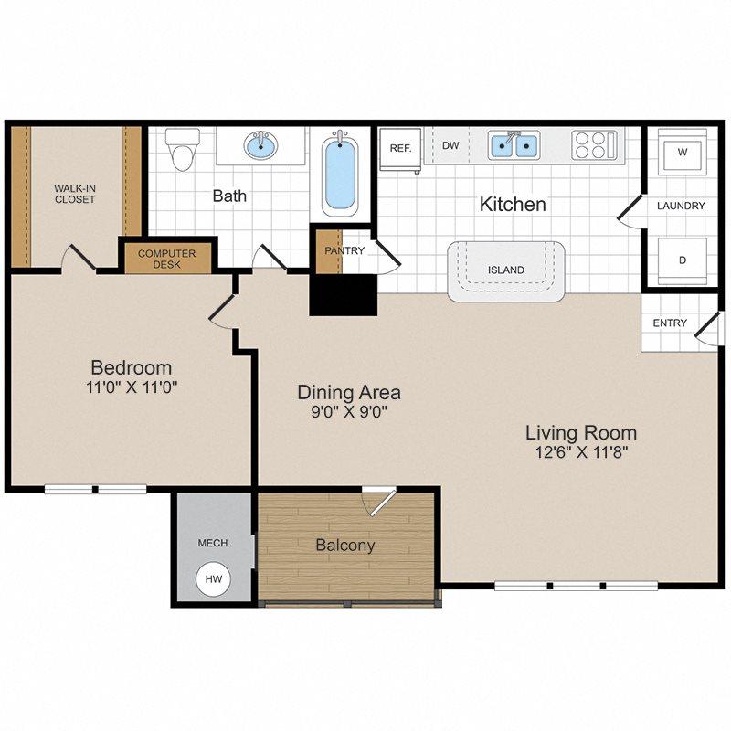 Potomac 2 Floor Plan 2