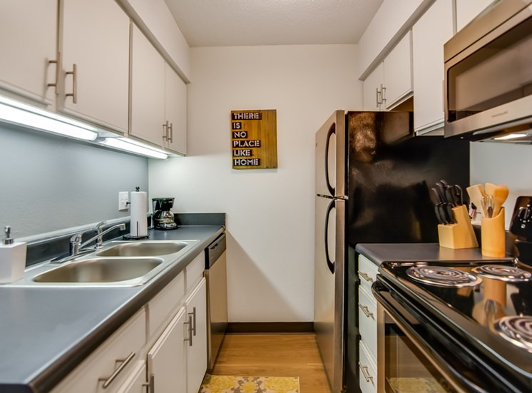 Updated appliances in kitchens at Nori Apartments in Kansas City, MO and in North Kansas City, MO