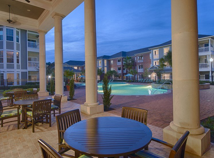 Plantation at the Woodlands, Rental Apartments, The Woodlands, TX, outdoor lounge