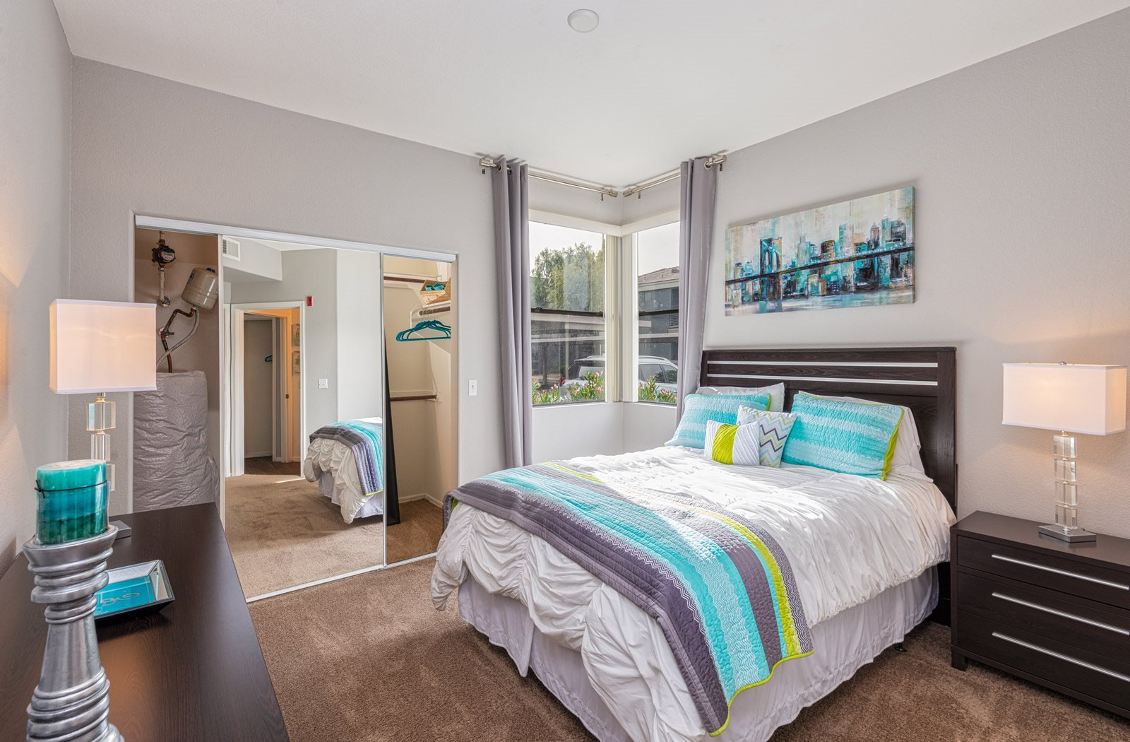 bedrooms with hardwood floor | Element Deer Valley Apartments Phoenix, Arizona