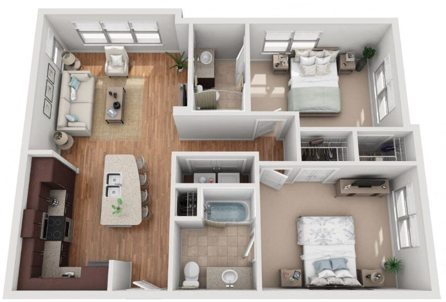 Floor Plans Of Mockingbird Flats In Dallas Tx