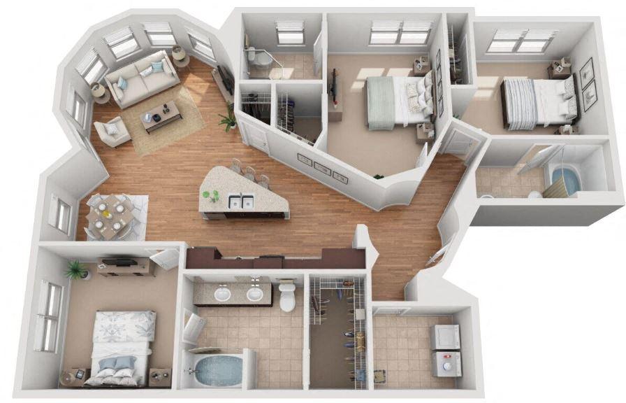Floor Plans of Mockingbird Flats in Dallas, TX