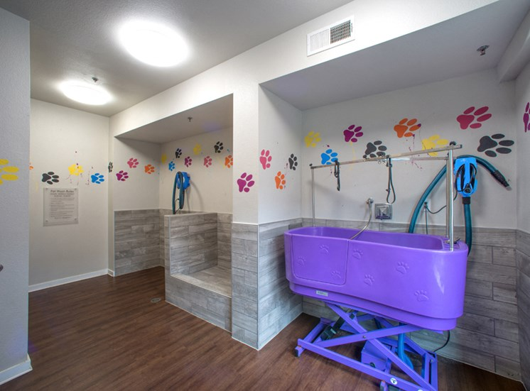 Gramercy on the Park Apartments for Rent Dallas, TX, dog washing area