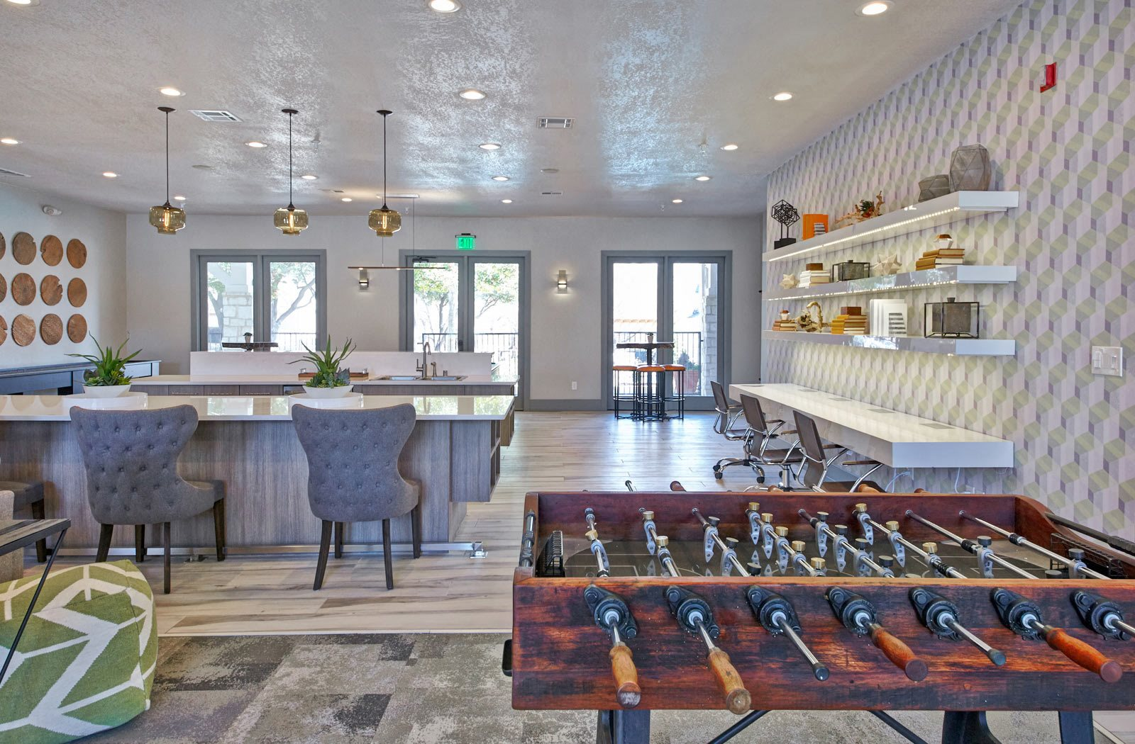 game and entertainment area | Creekside at Legacy Apartments Plano TX