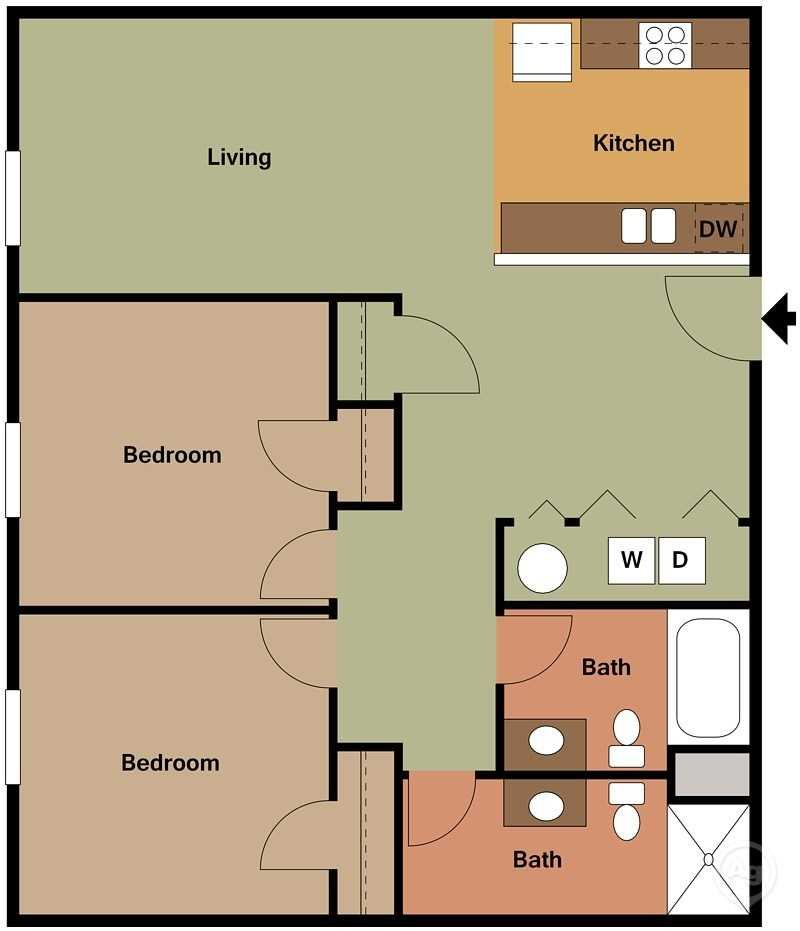 Eagle Point Apartments: Floor Plans Of Eagle Point Apartments In Williston, ND