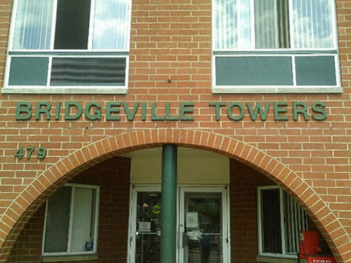 Entrance at Bridgeville Tower Bridgeville, Pennsylvania