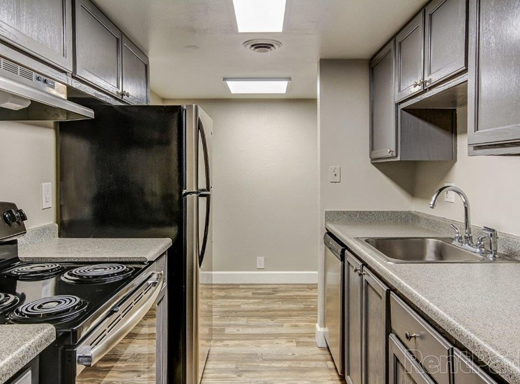 Vacant apartment home kitchen