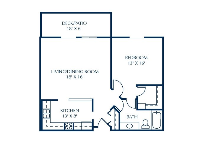 Floor Plan at Basswood Trails Apartments, Maple Grove, MN, 55369