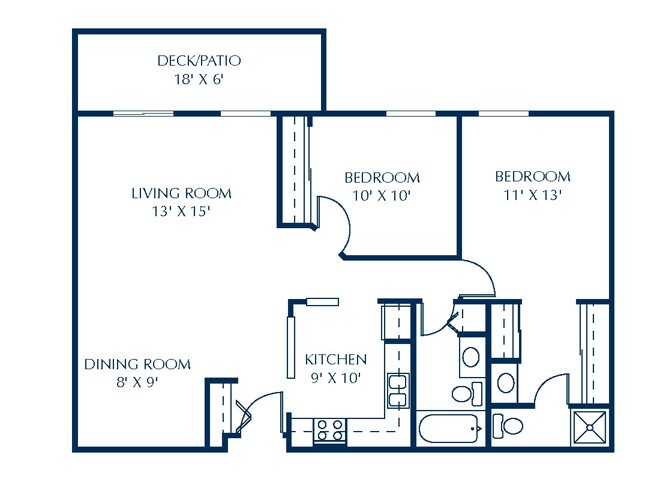 Floor Plan at Basswood Trails Apartments, Maple Grove, Minnesota