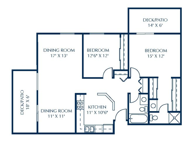 Floor Plan at Basswood Trails Apartments, Maple Grove