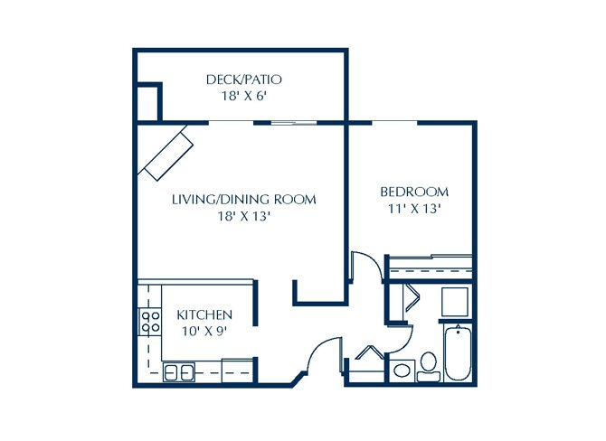 Floor Plan at Basswood Trails Apartments, Maple Grove, MN