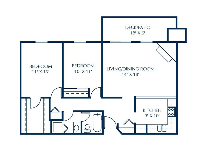Floor Plan at Basswood Trails Apartments, Maple Grove, 55369