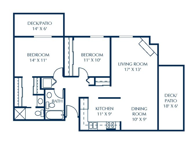 Floor Plan at Basswood Trails Apartments, Minnesota
