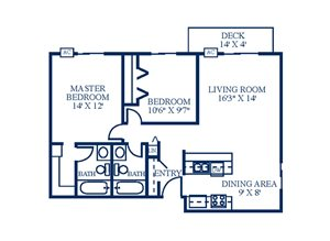 Floor Plan at Northpointe Apartments-Coon Rapids, Coon Rapids, MN, 55433