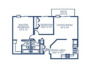 Floor Plan at Northpointe Apartments-Coon Rapids, Coon Rapids, Minnesota
