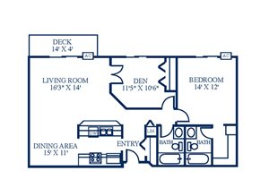 Floor Plan at Northpointe Apartments-Coon Rapids, Coon Rapids, 55433