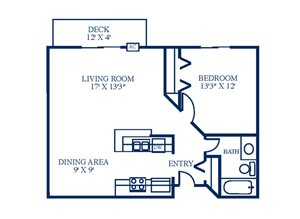 Floor Plan at Northpointe Apartments-Coon Rapids, Minnesota, 55433