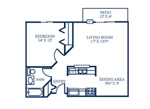 Floor Plan at Northpointe Apartments-Coon Rapids, Minnesota