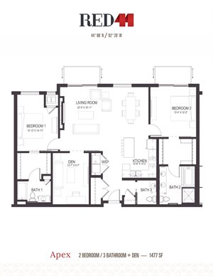 Floor Plan at Red44, Rochester, MN