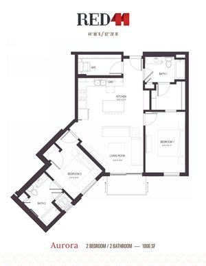 Floor Plan at Red44, Minnesota
