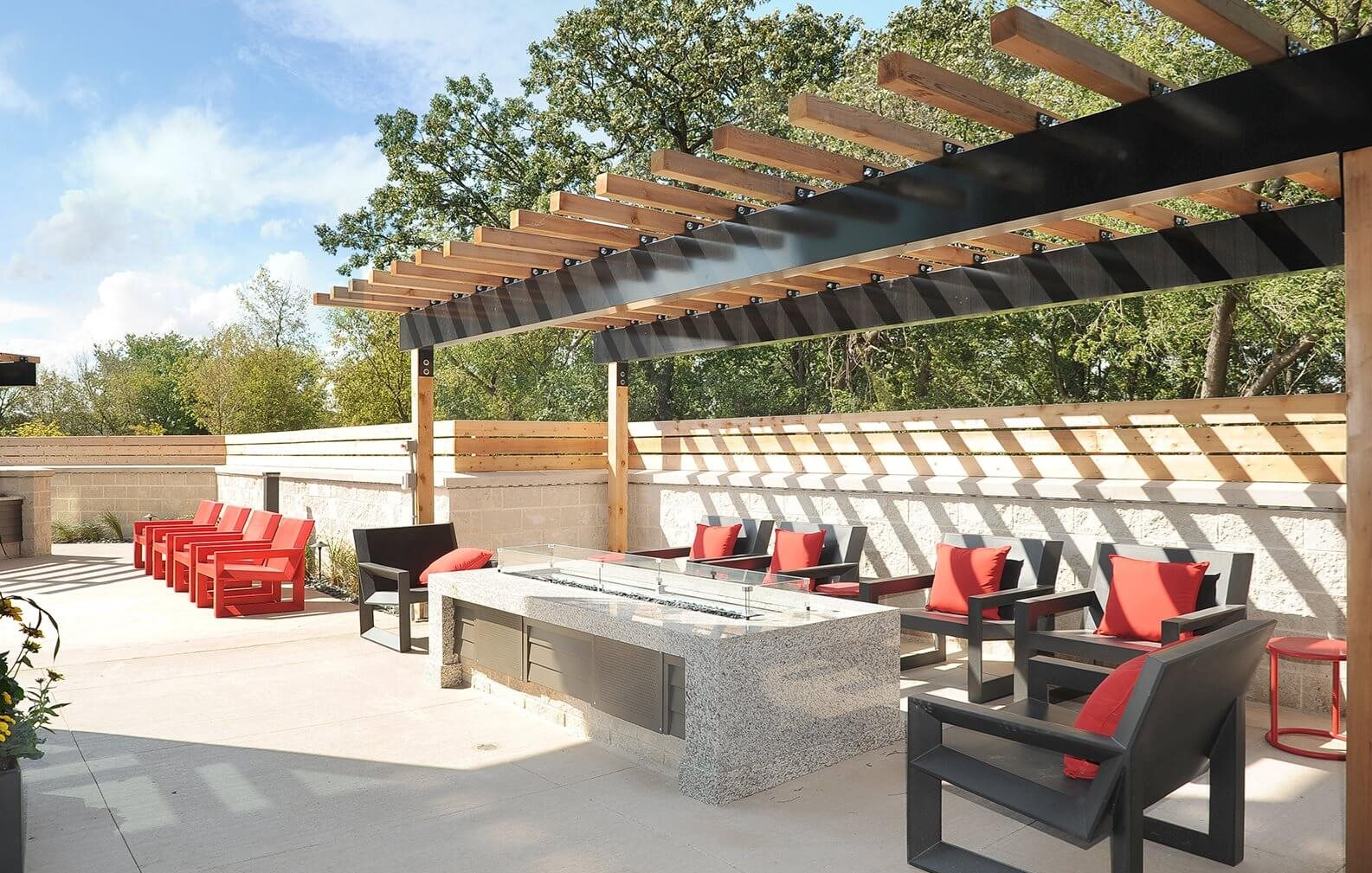 Outdoor Lounge at Red44, Rochester, 55902